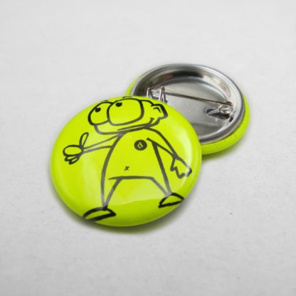 25mm Buttons Safetypin Neongelb