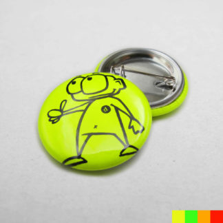 25mm Buttons Safetypin NEONGELB Start