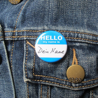 31mm Button Nametag