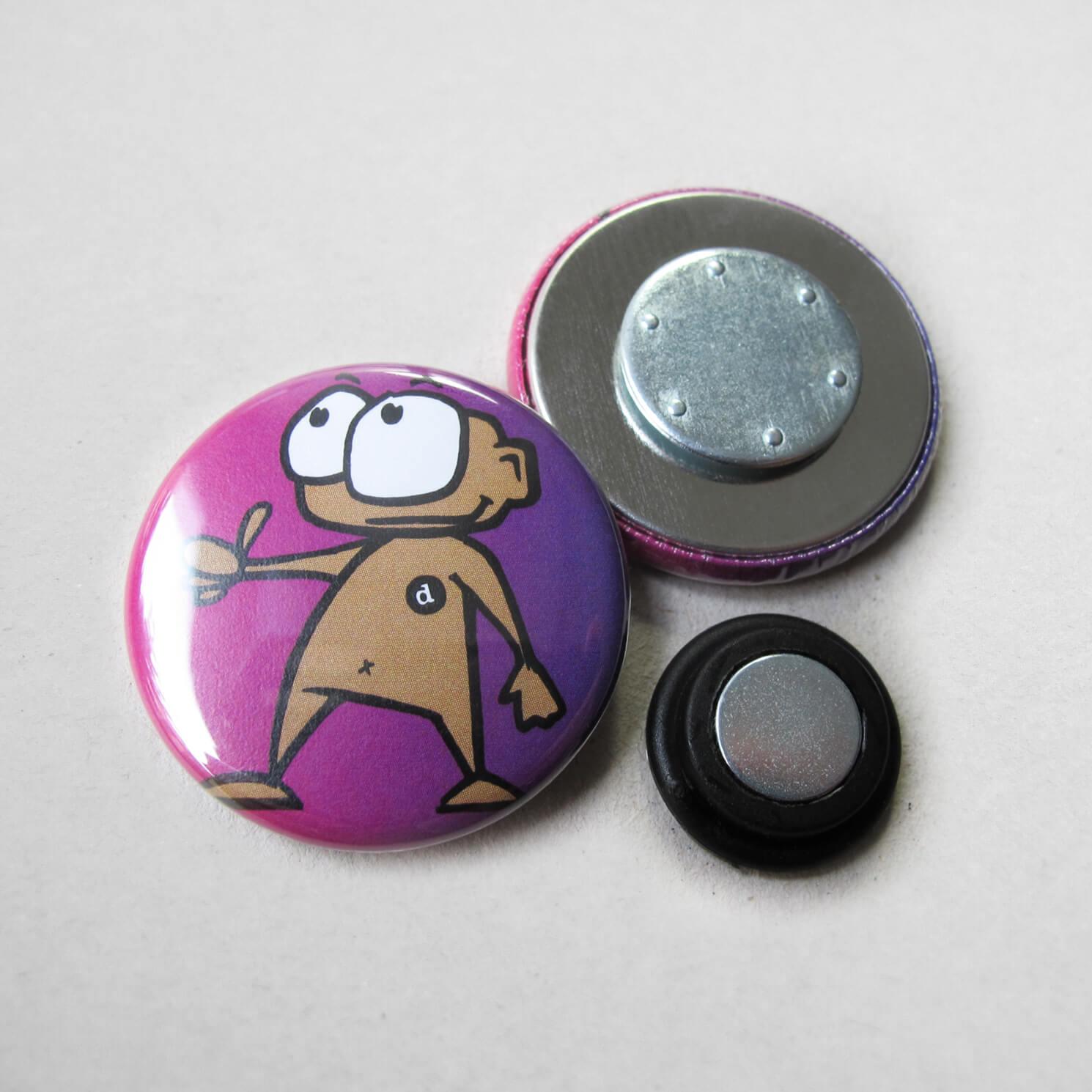 31mm Button Kleidungsmagnet 2