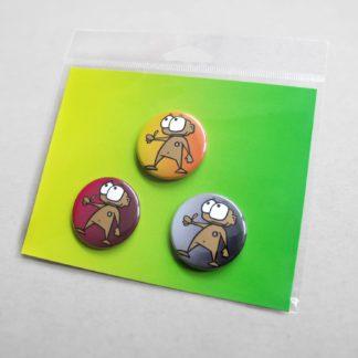 3er Buttonset für 3 x 37mm Buttons