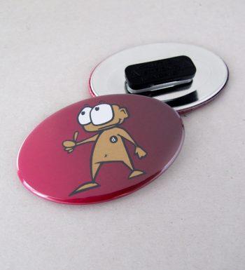 Ovaler Button mit Kleidungsmagnet
