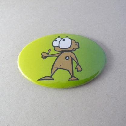 44x68mm Buttons Oval mit Magnet (Vorderseite)