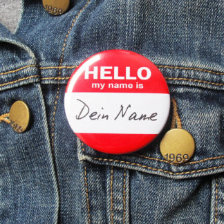 56mm Button Nametag