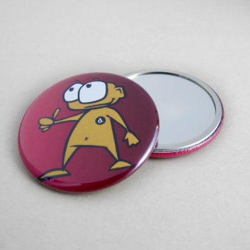 56mm Buttons mit Spiegel