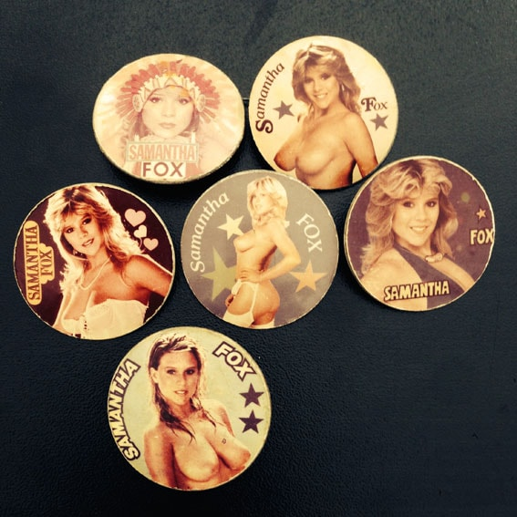 Samantha Fox Buttons