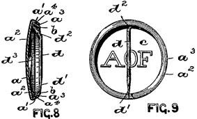 Patentskizze des ersten Buttons