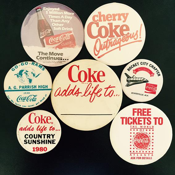Coca-Cola Buttons