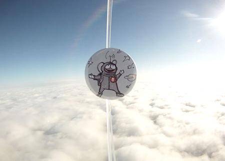 Der Button über den Wolken
